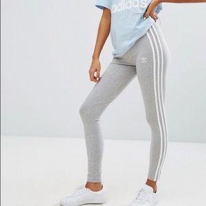 Adidas Grey Tack Set LEGGINGS + TEE